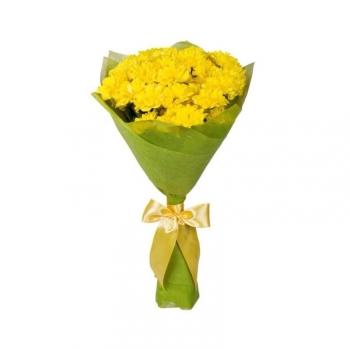 "Акция!! Букет из 5 желтых хризантем ""Солнышко"""