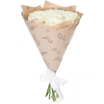 Букет Утренняя роса из 9 роз