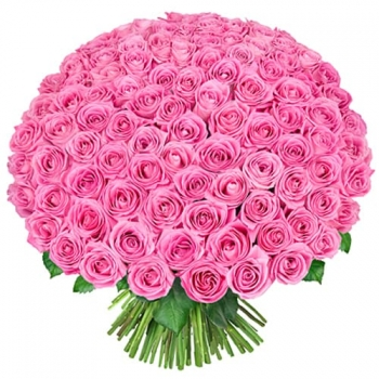 Акция!!! 101 розовая роза