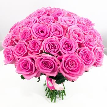 Акция!! 51 розовая роза + подарок