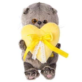 Кот Басик BABY с сердечком 20 см (Предзаказ)