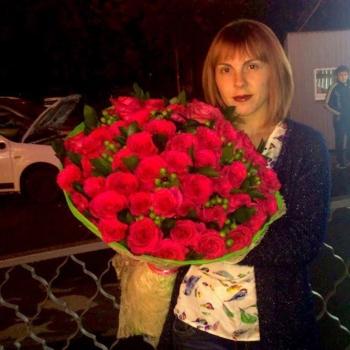 Букет из 51 ярко-розовой розы Предзаказ
