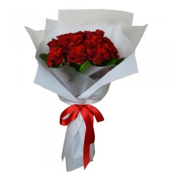 """Букет из 11 красных роз 50 см """"Изысканность"""""""