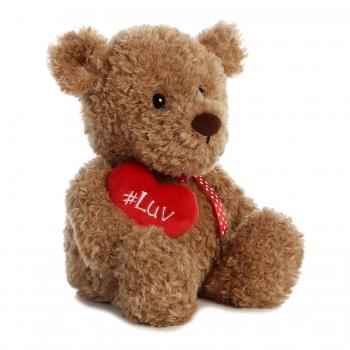 Мягкая игрушка Aurora Медведь с сердечком