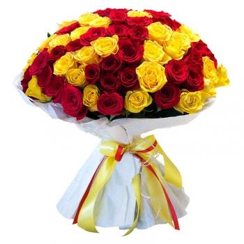 Букет Палитра из 101 розы